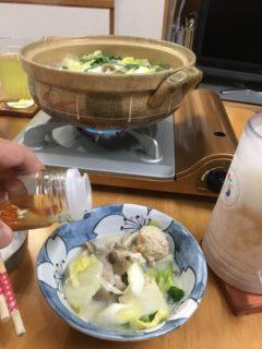 鍋料理と自家製コーレーグース